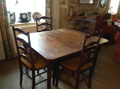 Antique Mahogany Extending Dining Room Table and 10 Chairs