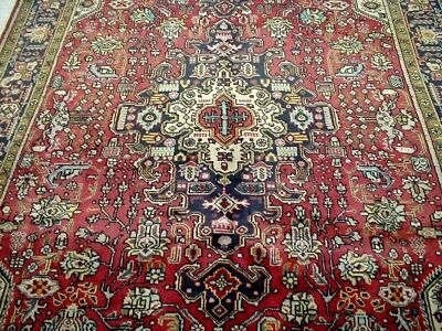 10X7 1960's EXQUISITE FINE HAND KNOTTED ROOM SIZE WOOL HERIZ TABRIZ PERSIAN RUG