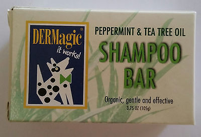 Dermagic Peppermint and Tea Tree Oil Shampoo Bar For Dogs