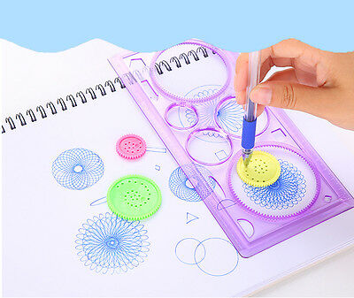 Cool!! New 1Pcs Spirograph Geometric Ruler Stencil Spiral Classic Toy Stationery