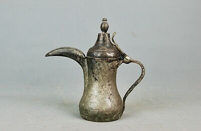 Antique Middle Eastern Arabic Islamic Bedouin  Copper Brass Dallah Coffee Pot
