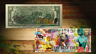 FLOYD MAYWEATHER Boxing Genuine $2 U.S. Bill Hand-Signed by RENCY - ONLY 50 MADE