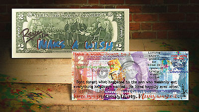 WILLY WONKA (MAW) Rency ART $2 U.S. Bill HAND-SIGNED *LIMITED & NUMBERED of 10