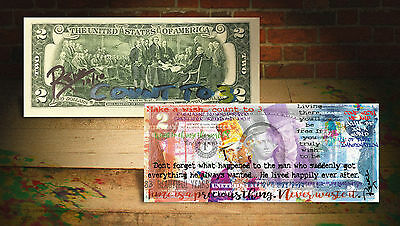 WILLY WONKA (CT3) Rency ART $2 U.S. Bill HAND-SIGNED *LIMITED & NUMBERED of 10