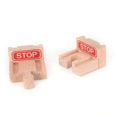 1 Set Wooden Train Stop Track Railway Accessories Compatible All Major Brands BB