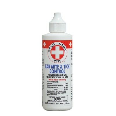 Cardinal Gold Medal Ear Mite & Tick Cleaner Control 4 Oz Dog Free Ship To Usa