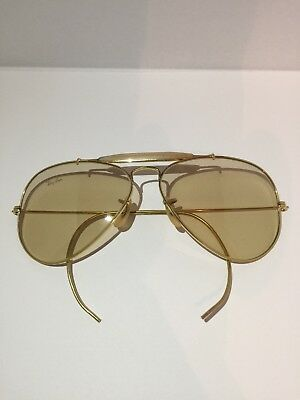 Vintage B&L Ray Ban Ambermatic sunglasses USA etched BL w/decal 58-14