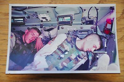 Iraqi Freedom OIF 1st Armored Photograph 3 x 5 Napping in the Bradley Vehicle