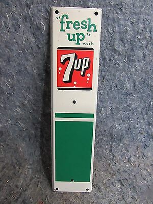 Vintage 7up Fresh UP Screen Door Advertising Soda Pull NOS New Old Stock