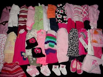 51pcs BABY GIRL NEWBORN 0-3 3-6 MONTHS Fall WINTER CLOTHES LOT Free Shipping