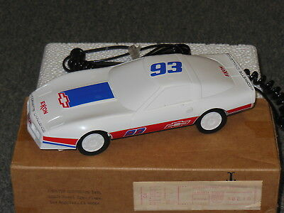 Vintage 1980's Exxon  Corvette Race Car Touch Tone Telephone  New In Box