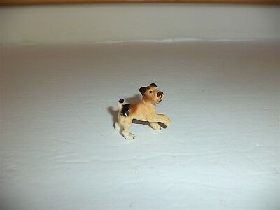 Vintage Bone China Schnauzer Puppy Dog Standing Paw Up Great Color