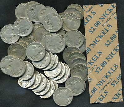Roll of 40 Dateless Buffalo Nickels
