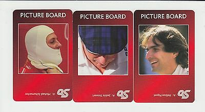 F1 Racing Drivers : complete UK sports game card sub set - red back (3 cards)