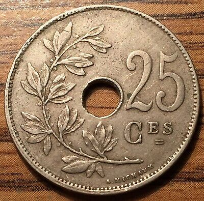 1929 Belgium 25 Centimes Coin - Legend in French