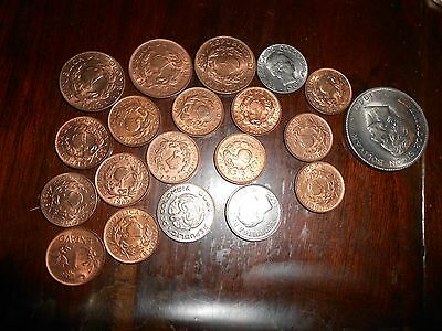 Lot Of Colombia Unc/bu Coins