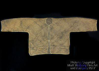 FINE & RARE Chinese Court Bamboo Jacket-Sized Under Garment, Late Qing Dyn.