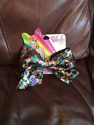 JoJo Siwa large multicoloured sequin hair bow. New with tags.