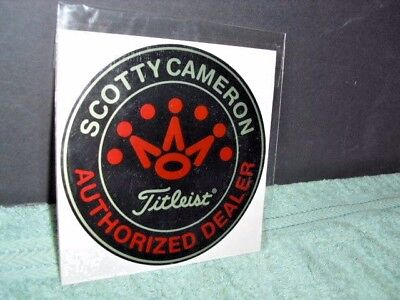Brand New Titleist Scotty Cameron Authorized Dealer Sticker Black/red & Silver