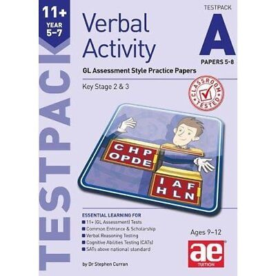 11+ Verbal Activity Year 5-7 Testpack A Papers 5-8: GL  - Paperback NEW Curran,