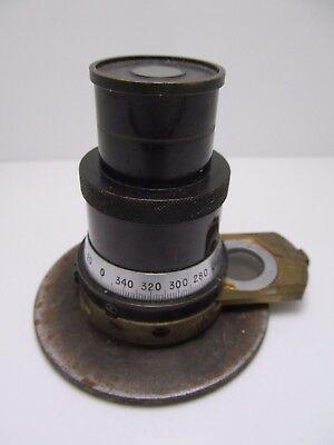 Vintage Bausch & Lomb Microscope Eyepiece? Unknown Old Brass Optic NR!