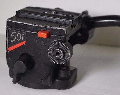 Manfrotto 501 Fluid Video Head with plate and handle FREE SHIP! #3