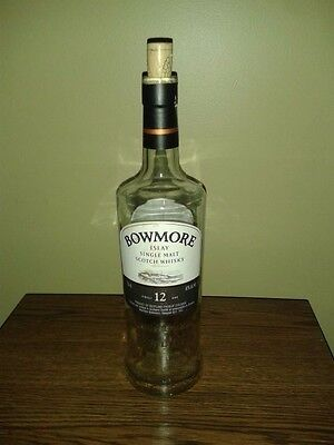 ** EMPTY 750ml BOWMORE SINGLE MALT SCOTCH WHISKY WITHOUT CAP EMPTY BOTTLE **