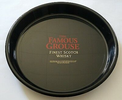 The Famous Grouse Finest Scotch Whiskey Black Serving Platter Tray Dish Plate