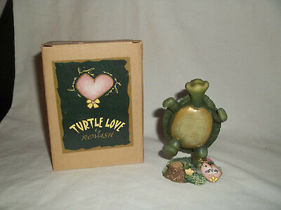 "2001 Turtle Love By Rovish ""i Have Never Felt Like This Before!""  Figurine Mib"
