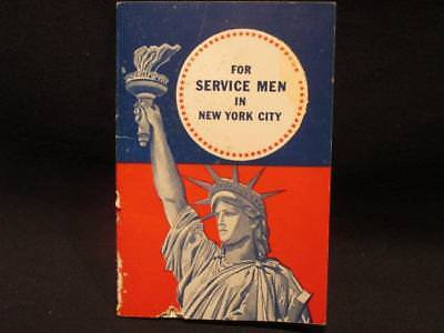 US WWII Information Booklet for Servicemen in New York City New York Telephone