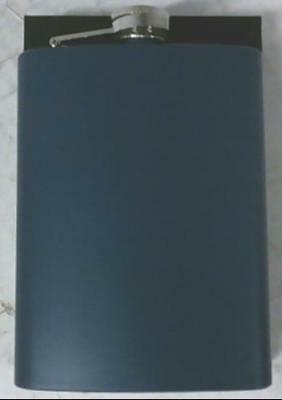 NEW Lou Silver 8 Ounce Laserable Engravable Executive Stainless Steel Flask