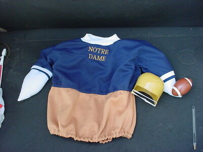 Notre Dame Football Fighting Irish Lawn Goose Clothes Outfit & Helmet