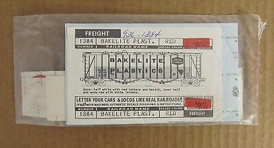 New Old Stock Walthers O Scale Decals -  Bakelite Plastic Freight Car #1384