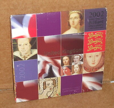 2002 United Kingdom Brilliant Uncirculated Coin Collection in holder