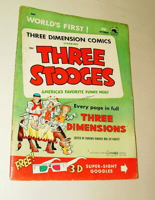 %  1953 The Three Stooges 3-D  Comic Book   P-21