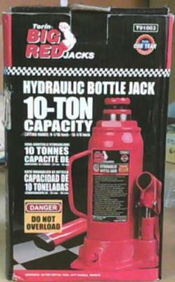 NEW Torin Big Red T91003 10 Ton Hydraulic Bottle Jack