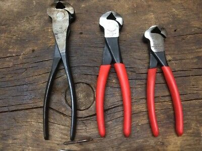 """Diamalloy, Crescent, Master Mechanic CUTTERS PLIERS NIPPING TOOL 6,7,8"""" USA"""