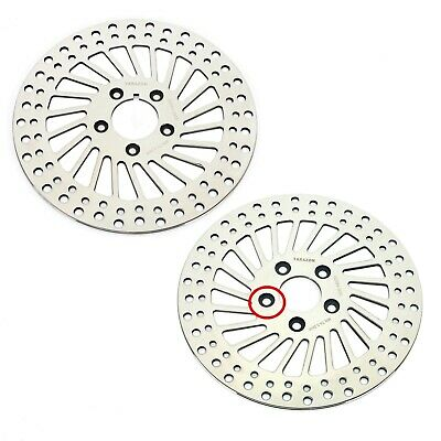 "84-99 Polished 11.5""  Front Rear Brake Rotors for Harley Sportster Dyna Touring"