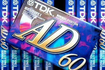 Tdk Ad 60 Premium Normal Position Type I Blank Audio Cassette - 1997