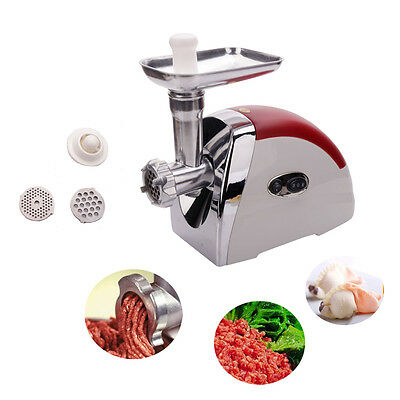 2000 Watt 110V Industrial Electric Meat Grinder Meats Grind Cutter Home Use