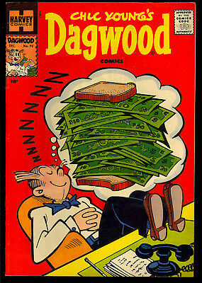 Dagwood Comics #95 High Grade Harvey File Copy Blondie 1958 VF-NM