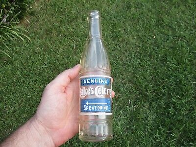 Very Rare Early 1937 Lakes Celery Acl Soda Bottle Jackson, Miss. Deco Blue White