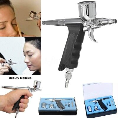 Airbrush Spray Gun Dual Action Air Brush Craft Tattoo Hose Set Kit 0.2/0.3/0.5mm