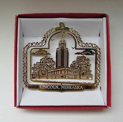 Lincoln Nebraska Brass Ornament