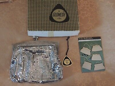 Vintage Glomesh Silver Purse In Original Box with Tag & Brochure @1969 - Used