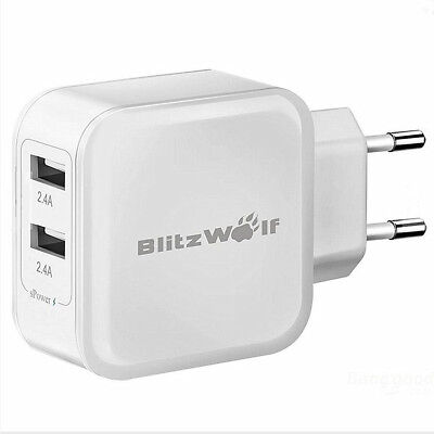 BlitzWolf 24W High Speed Dual USB Ports Fast Charging Charger For Phones Tablet