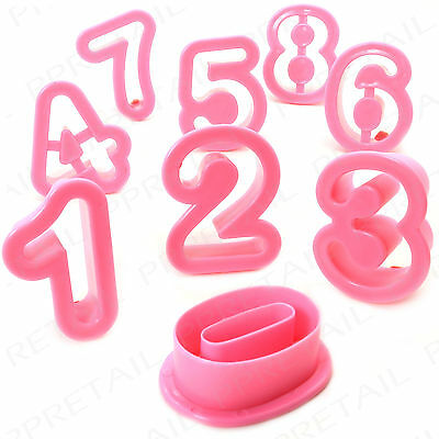 LARGE NUMBER COOKIE CUTTERS+0-9 SET+Baking Pastry Decorating Biscuit Birthday
