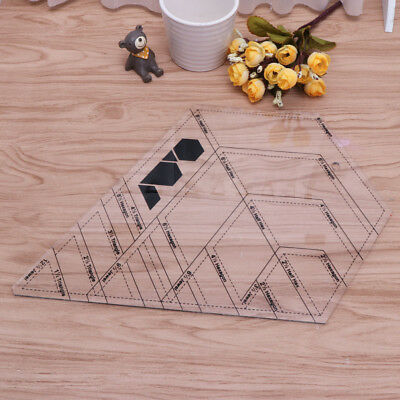 Diamond Shaped Sewing And Quilting Patchwork Ruler Measure Tool For Tailor