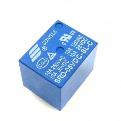 10 Pcs Mini Power Relay 5V DC SRD-5VDC-SL-C SRD-5VDC-SL-C PCB Lot