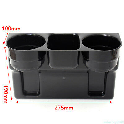 New Black 2 Cup Holder Drink Beverage Seat wedge Car Auto Truck Universal Mount